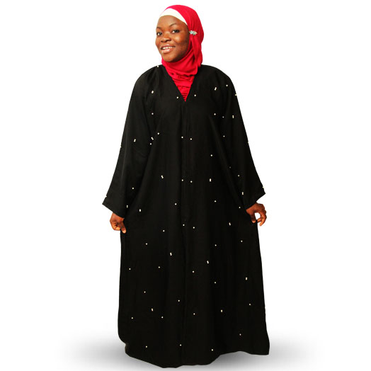 Stylish Modest Open Abaya with Pearls