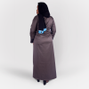 Habeebat Beena Grey Abaya with Zipper Design