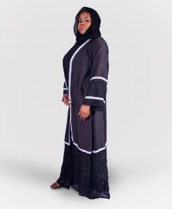 Habeebat_Khatoon_Black_Open Abaya