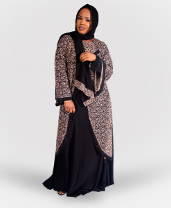 Habeebat Aabish Layered Abaya