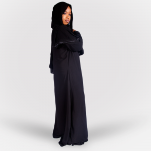 Habeebat Gulbano Black Abaya