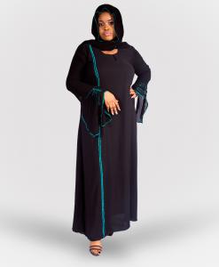 Habeebat Qali Black Abaya
