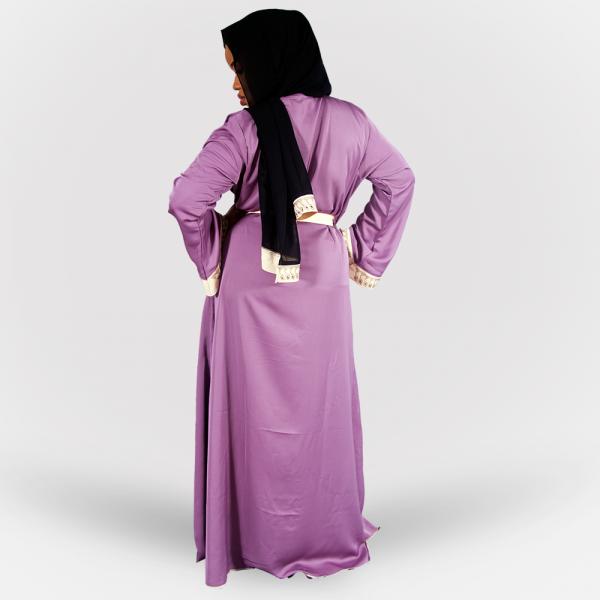 Habeebat Wajeedah Cream/Lilac Abaya