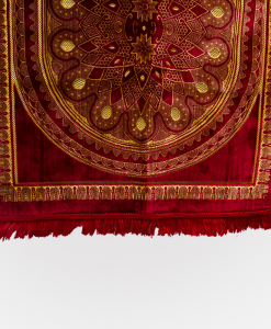 Habeebat Red/Gold Prayer Rug