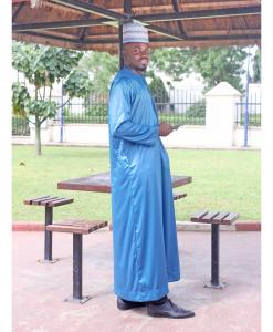 Habeebat Wakil Blue Jalabiya