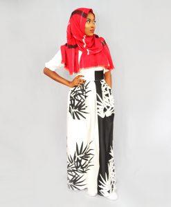 Habeebat_Black/White Maxi Skirt