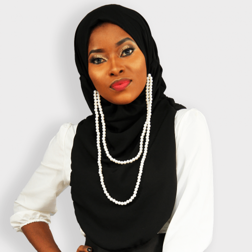 Habeebat Black Ranah Hijab with beads