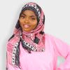 Habeebat Pink Patterned Scarf