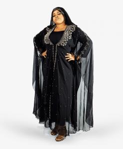 Habeebat Aafreeda Womens Hooded Abaya