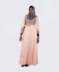 Habeebat_Aaleyah_Peach_Bridal_Gown