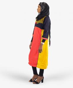 Habeebat_A'dab_Multicolored_Kurtis