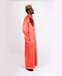 Habeebat_Karan_Orange_ Jalabiya_with_black_designs