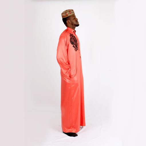 Habeebat_Karan_Orange_ Jalabiya_with_black_designs