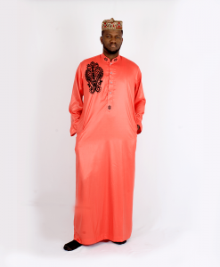 Habeebat Karan_Orange_Jalamiya_with_black_designs