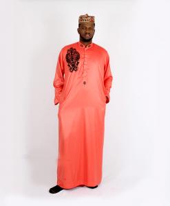 Habeebat Karan_Orange_Jalamiya_with_black_designs
