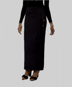Habeebat Bahameen_Black_Straight_Skirt