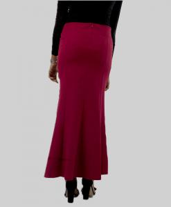 Habeebat_Batool_Wine_Flared_Skirt
