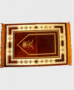 Habeebat_Brown_Sword_themed_Prayer_rug