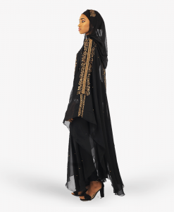 Habeebat Emarie Womens Hooded Abaya