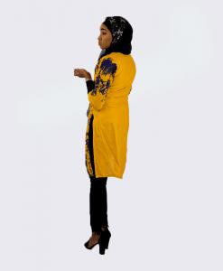 Habeebat_Furat_Golden_Yellow_Kurtis