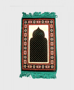 Habeebat_Green_and_brown_kids_prayer_rug