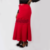 Habeebat  Aadab Red High Waist Skirt with Belt(2)