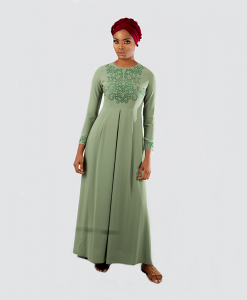 Habeebat_Green_Beaded_Bridal_Gown