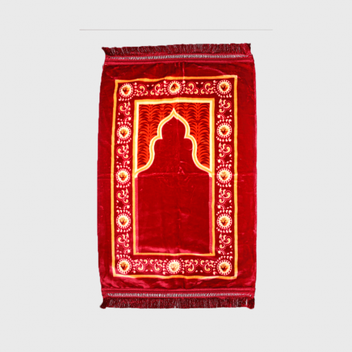 Habeebat Red Duvet Inspired Prayer Rug