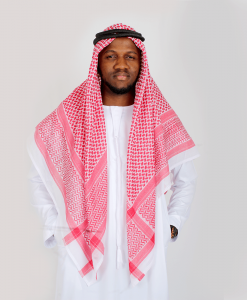 Habeebat Red Ghutra mens scarf