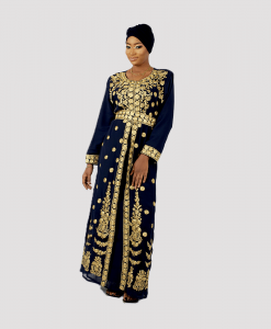 Habeebat_Rima_Blue_and_Gold_Kaftan
