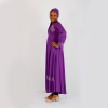 Habeebat purple kids Abaya with gold designs