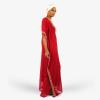 habeebat Fathia Red Gold Embroidered Kaftan 034A
