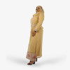 habeebat Haleeyah Gold and Pink Kaftan 036B