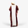 habeebat Halimah White and Wine Kaftan 029C