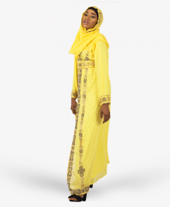Habeebat_Hazeemah_Embroidered_Yellow_Kaftan