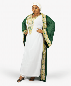 Habeebat_Kafeelah_Green_and_White_Kaftan