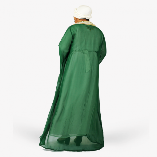 Habeebat_Kafeelah_Green_and_White_Kaftan