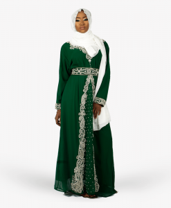 habeebat_Lateefah_Green_Embroidered_Kaftan