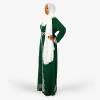 habeebat Lateefah Green Embroidered Kaftan 033B