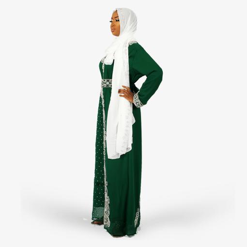 habeebat_Lateefah_Green_Embroidered_Kaftan