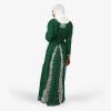 habeebat Lateefah Green Embroidered Kaftan 033C