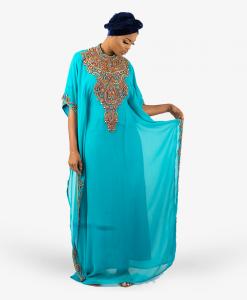 Habeebat_Muheebah_Blue_Turtle_neck_Kaftan