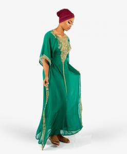 Habeebat_Muinah_Green_Kaftan