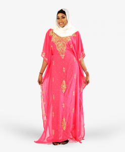 Habeebat_Zeemah_Gold_Embroidered_Pink_Kaftan
