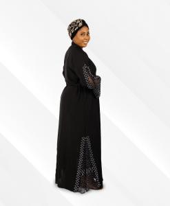 habeebat A'eedah Black Abaya