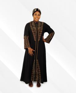 Habeebat Dazeita Black Embroidery Abaya