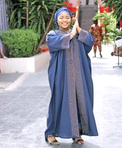 Habeebat Bashirah Blue Abaya