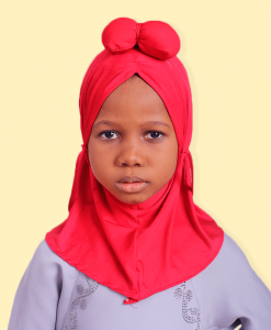 Habeebat Hamzat Red kids Hijab