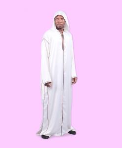Habeebat Iqbal Whte hooded Jalamia