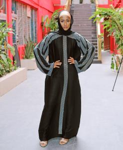 Habeebat Nabjah Black Abaya